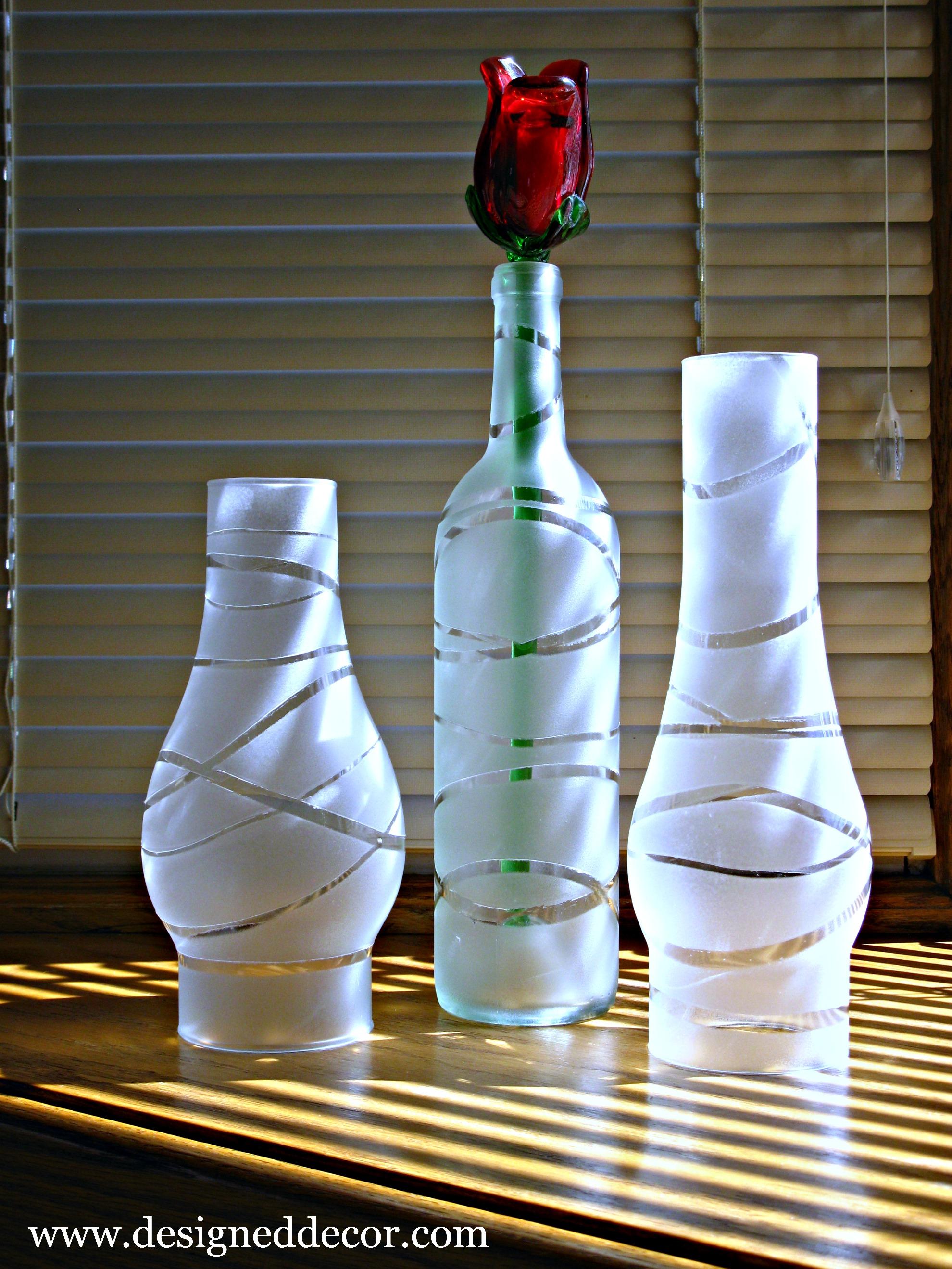 Diy painted jars and bottles designed decor for Diy crafts with glass jars and bottles