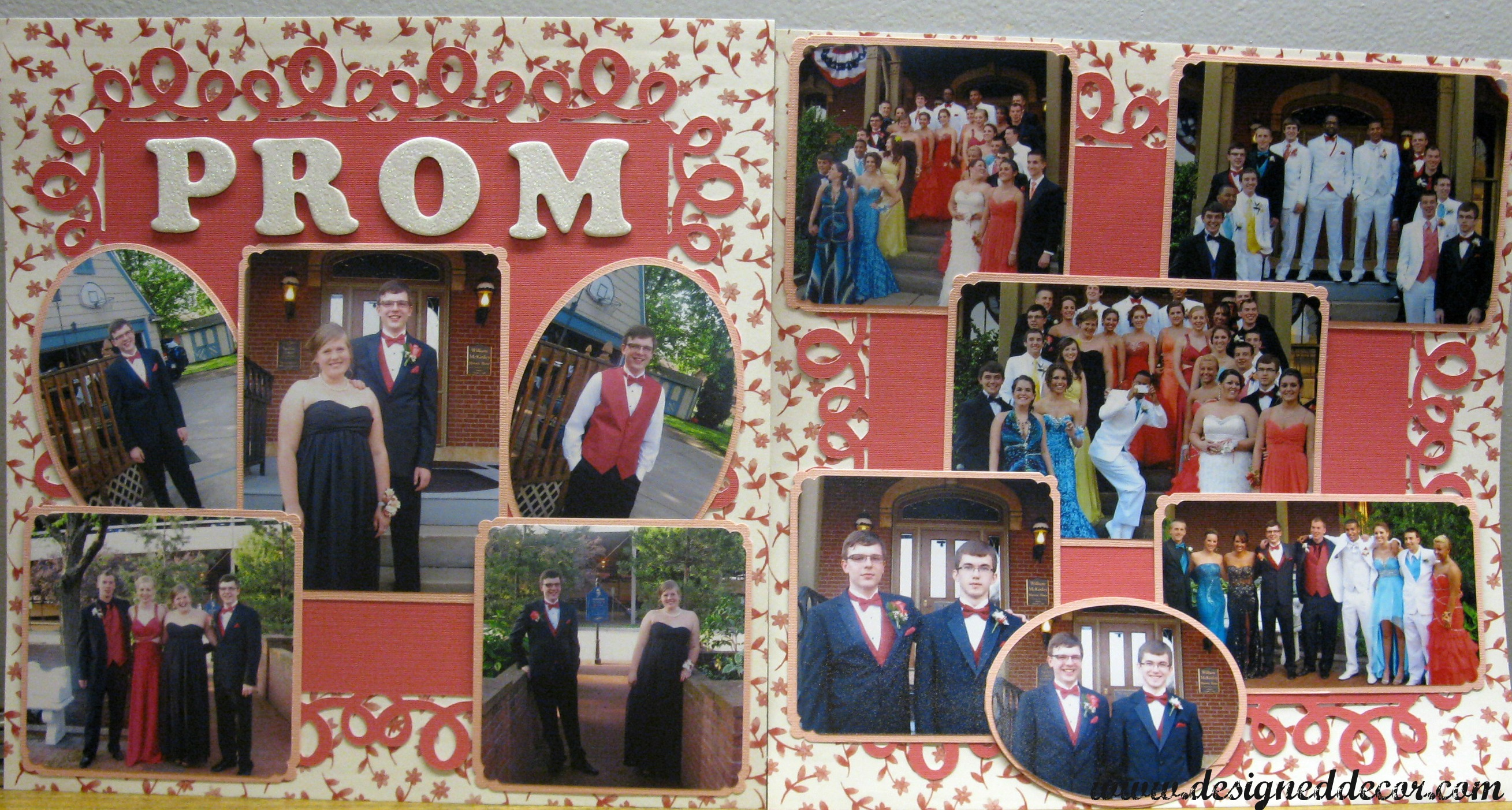 Completed The Third Sons Scrapbook Designed Decor