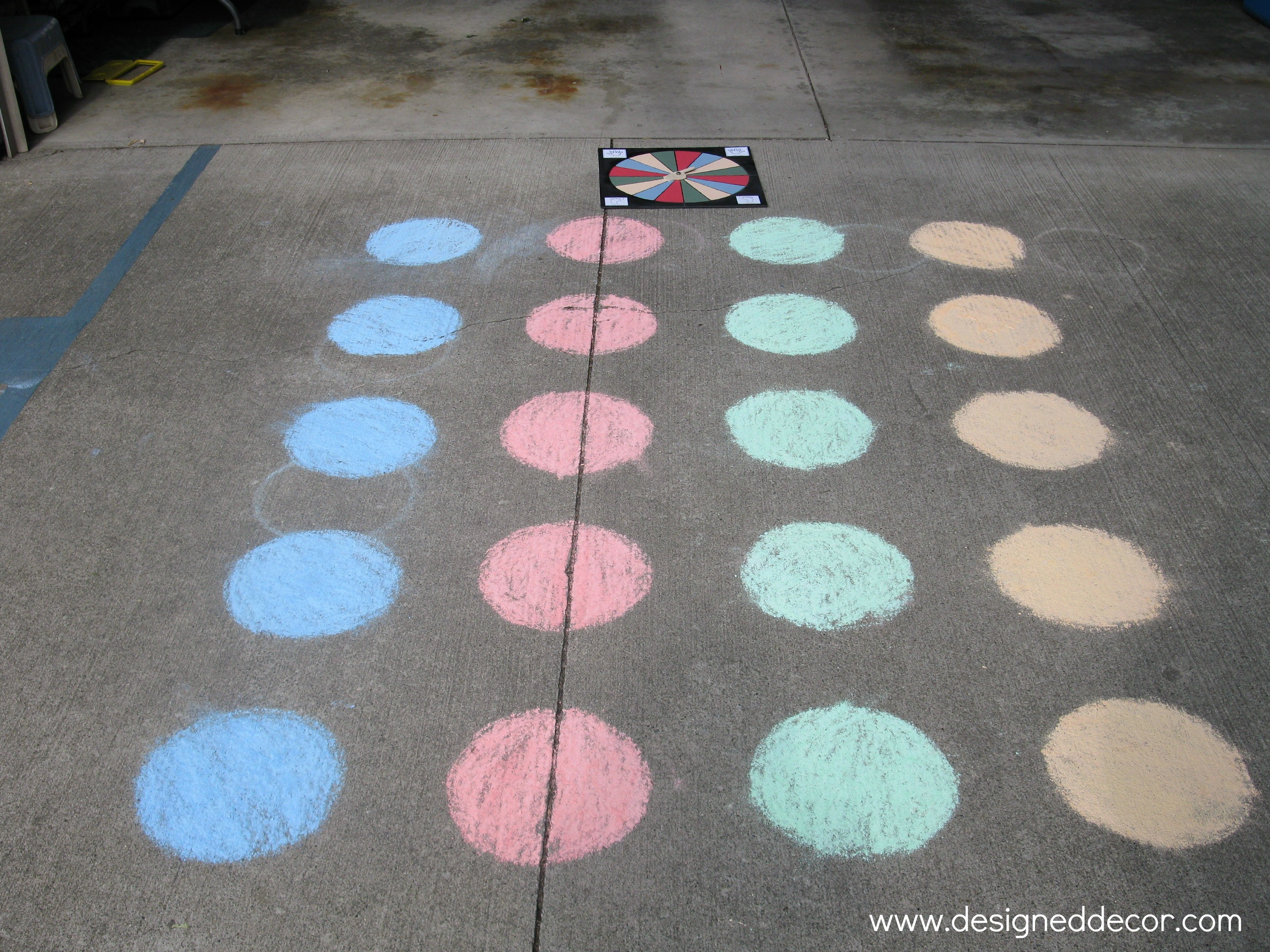 image regarding Finger Twister Printable referred to as D.I.Y. Twister Recreation - Created Decor