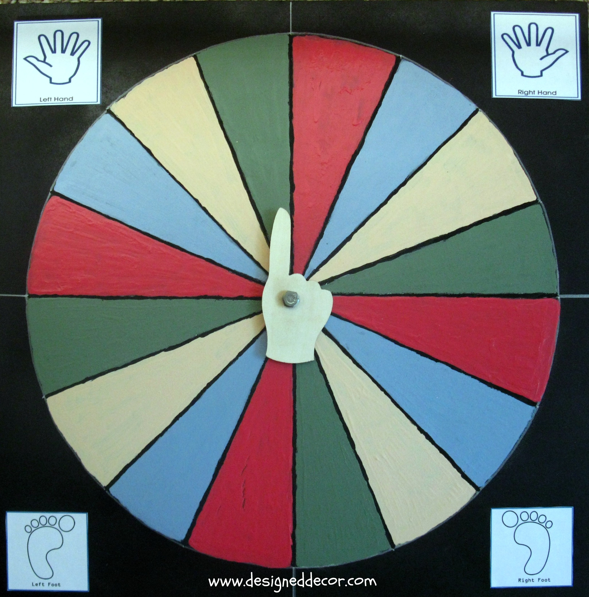 photo regarding Twister Spinner Printable known as D.I.Y. Twister Video game - Intended Decor