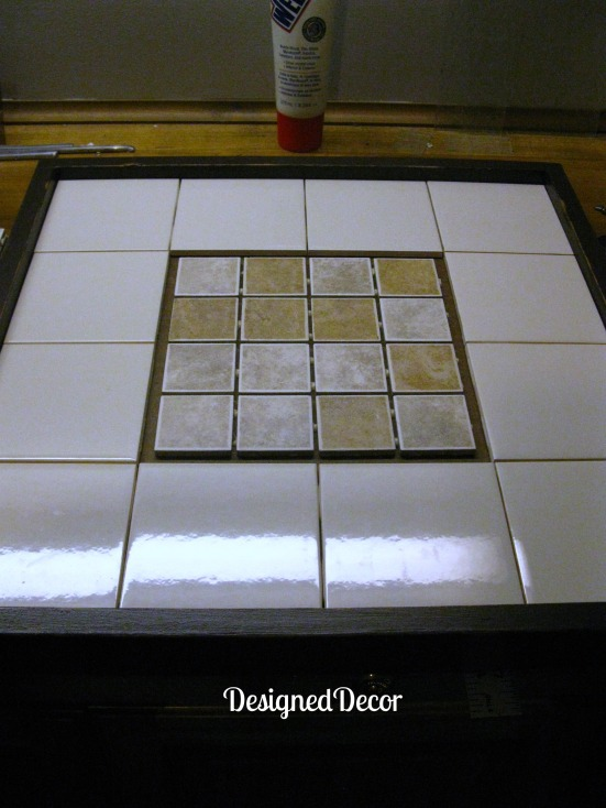 used the left over grout that i had from my basement bathroom project