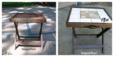 Repurposed Folding Accent Table/ Serving Tray/ LuggageRack
