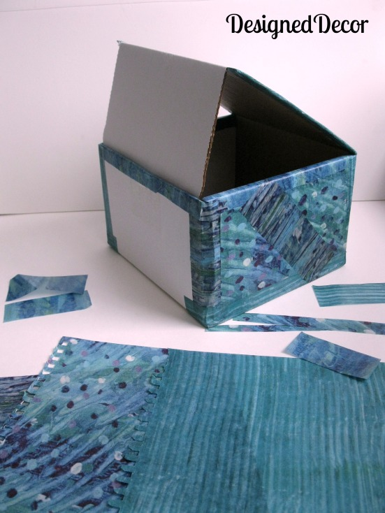 Decoupage gift wrap